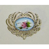 Enamel brooch Brooch the Crown