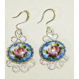 Enamel earrings Earrings Light