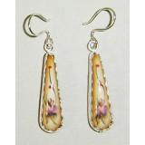 Enamel earrings Earrings Nails