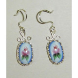 Enamel earrings Earrings the Dewdrop