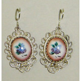 Enamel earrings Lace earrings