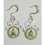 Enamel earrings Earrings Peas