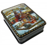 Lacquer Box with elements of hand painting 7984