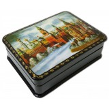 Lacquer Box with elements of hand painting 7985