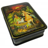 Lacquer Box with elements of hand painting 7986