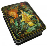Lacquer Box with elements of hand painting 7987