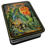 Lacquer Box with elements of hand painting 7988