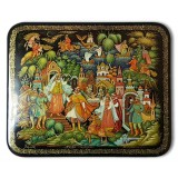 Lacquer Box Palekh The little humpbacked horse, the author Maleeva S.