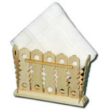 Wooden product holder for napkins