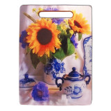 Ware Board kitchen gzhel with sunflowers 29 x 21 cm