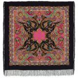 Pavlovo Posad Shawl Pavlovo Posad silk lace, fringe 1429-18...