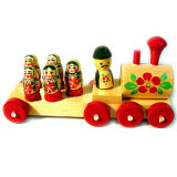 Toy wooden Steam locomotive