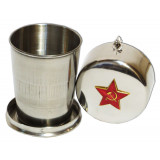 Souvenir with Russian and Soviet symbols Glass average,...