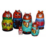 Nesting doll 3 pcs. Cat in assortment small