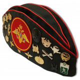 Headdress The soldier's forage cap Soviet officer with badges