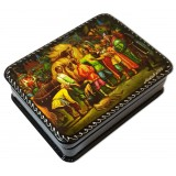 Lacquer Box with elements of hand painting The Little Humpbacked...