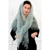 Pavlovo Posad Shawl The Orenburg Shawl downy, gray, 1.30