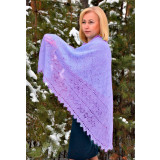 Pavlovo Posad Shawl The Orenburg Shawl puffer, purple, 1.30