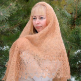 Pavlovo Posad Shawl The Orenburg Shawl downy, light brown, 1.30