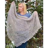 Pavlovo Posad Shawl The Orenburg Shawl puffer, light pink (flesh),...