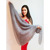Pavlovo Posad Shawl The Orenburg Shawl gossamer, light grey, 1.30