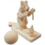 Bogorodskaya toy Bear skier
