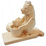 Bogorodskaya toy Bear-a Mother bathes son
