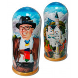 Nesting doll by customer specification portrait 1 pcs...