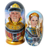 Nesting doll by customer specification portrait 2 pcs...