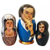Nesting doll by customer specification portrait 3 pcs...