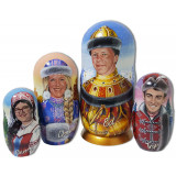 Nesting doll by customer specification portrait 4 pcs...