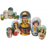 Nesting doll by customer specification portrait 5 pcs...