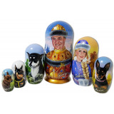 Nesting doll by customer specification portrait 6 pcs...