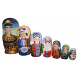 Nesting doll by customer specification portrait 7 pcs...
