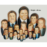 Nesting doll by customer specification portrait 9 pcs...