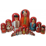 Nesting doll by customer specification portrait 10 pcs...