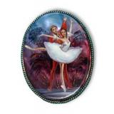 Brooch Ballet, natural pearl