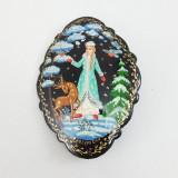 Brooch Snowmaiden