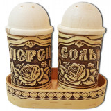 birch bark products spice set (2 piece), embossing