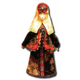 Doll handmade average AF-8 In a national costume