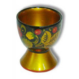 Khokhloma for food Glass for egg 60h50