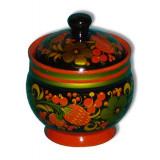Khokhloma for food Tea-caddy 80h70