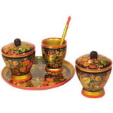 Khokhloma gift Set for a table Wild strawberry of 5 subjects