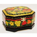 Khokhloma gift box 6,5 h 12 h 8 cm.