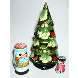 Nesting doll 3 pcs. Christmas tree