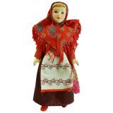 Doll handmade porcelain festive costume Samara Province