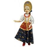 Doll handmade porcelain festive summer costume, Yaroslavl Province