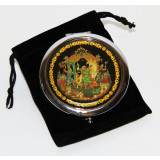 "Pocket mirror 07CHE-34-279 metal button D7""Palekh..."