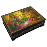 Lacquer Box The tale of Tsar Saltan, 14 x 10 x 3.5