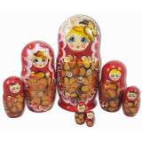 Nesting doll 7 pcs. red 7 doll., 22